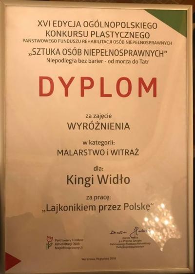 """GALA FINAŁOWA XVI EDYCJI OGÓLNOPOLSKIEGO KONKURSU PLASTYCZEGO PFRON"""" 2"""
